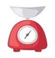 red weight kitchen scales vector image vector image