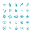 rock and roll line icon set icons vector image vector image
