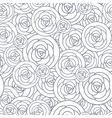seamless pattern with outline decorative vector image