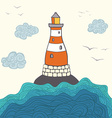 ShipLighthouse5 vector image vector image