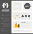 simple profile dashboard template vector image vector image