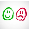 smiley face cartoon vector image