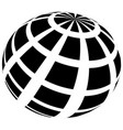 sphere with grid of squares textured 3d sphere vector image