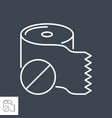 toilet paper related thin line icon vector image