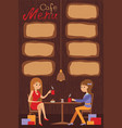 two beautiful women are sitting in a cafe vector image