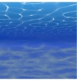 underwater background with vector image vector image