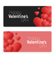 valentines day abstract cards with hearts vector image vector image
