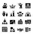 voting democracy election icon vector image