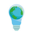 world and bulb vector image vector image