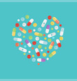 pills and tablets set isolated on background in vector image