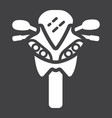 motorcycle glyph icon transport and vehicle vector image