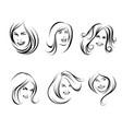 portraits of women vector image