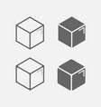 3d box icon vector image
