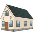 3d design for house with gray roof vector image vector image