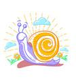 a snail vector image vector image