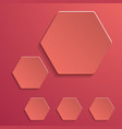 abstract creative collage with hexagonal design vector image