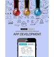 app development infographic concept background vector image vector image