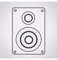 audio speakers icon vector image vector image