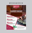 banking finance flyer vector image