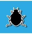 beetle silhouette design vector image