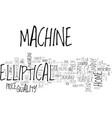 best home elliptical machine simple steps before vector image vector image