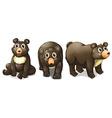 Black bears vector image vector image