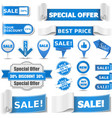 Blue sale banners vector | Price: 3 Credits (USD $3)