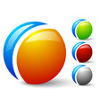 bright glossy generic circle icons logos 4 colors vector image
