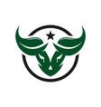 buffalo head natural logo design vector image vector image