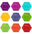 bumf icons set 9 vector image