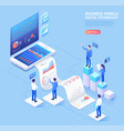 business mobile application isometric vector image