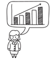 Businesswoman Growth Graph vector image vector image