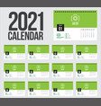 calendar 2021 week start sunday corporate design vector image vector image