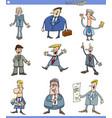 cartoon set of men or businessmen vector image vector image