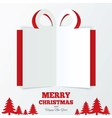 Christmas gift box cut the paper Christmas tree vector image