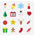 Christmas sticker icon set vector image