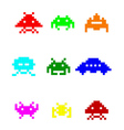 coloured space invaders vector image vector image