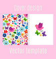 cover design with spring decorations pattern vector image vector image
