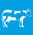 cow icon white vector image vector image