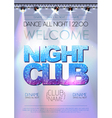 Disco background Night club poster vector image vector image