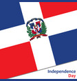 dominican republic independence day vector image vector image