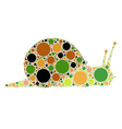 dotted snail vector image vector image