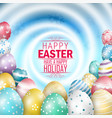 easter colorful eggs on white swirls background vector image vector image