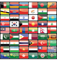 elements design icons flags countries of vector image