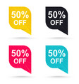 final sale discount sticker 50 promotional tags vector image