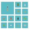 flat icons prayer carpet ramadan kareem muslim vector image vector image