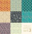 floral wallpaper pattern set vector image