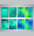 flyer design templates vector image