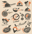Food and restaurant logo designs vector image vector image