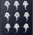 ghost realistic set transparent vector image vector image